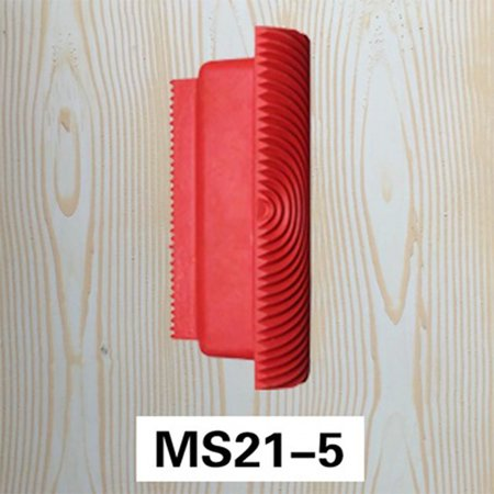 5 Inch Wood Graining Rubber Grain Tool Pattern Wall Painting Decoration DIY Red MS21 - image 4 de 6
