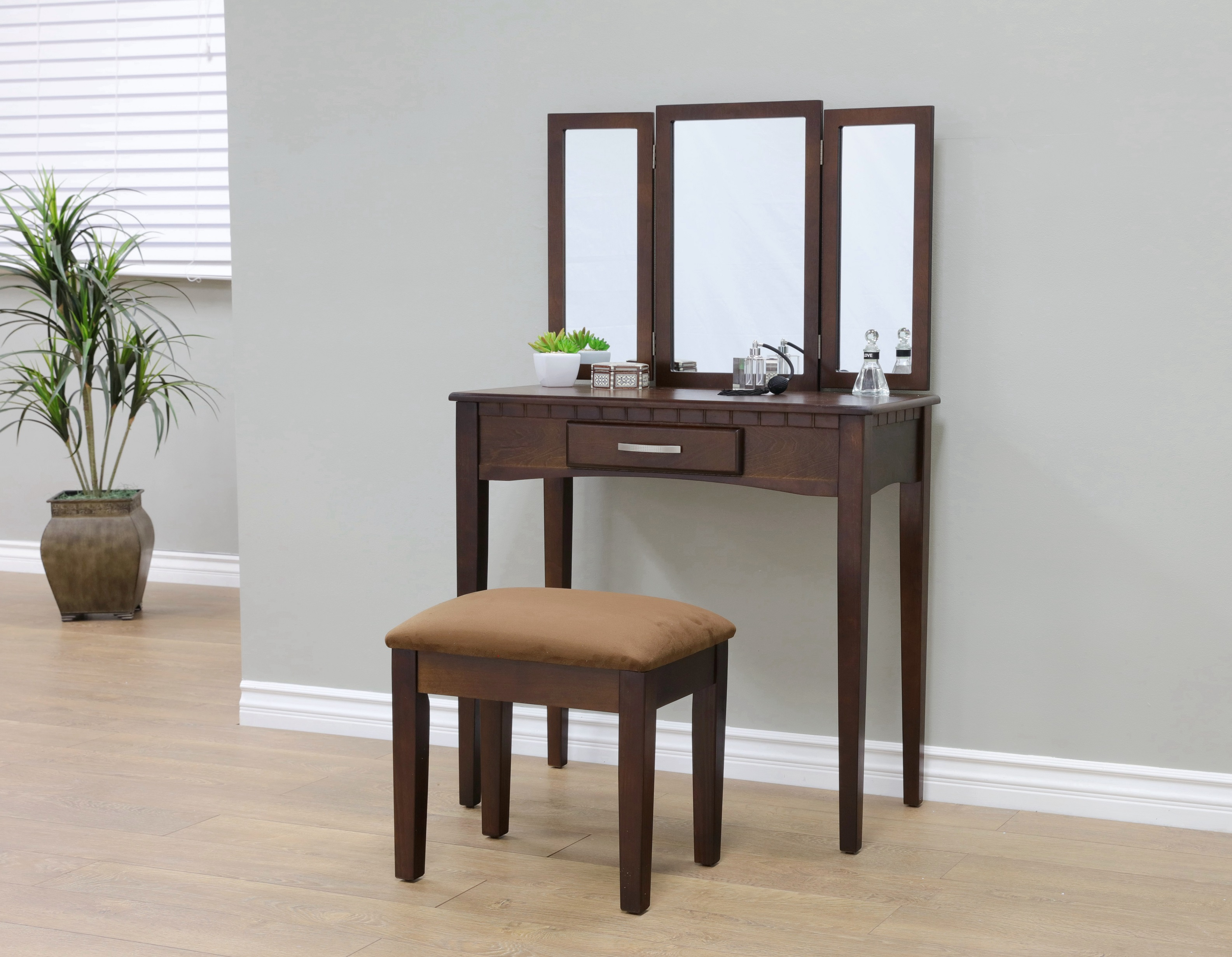 Home Craft 3 Piece Bedroom Vanity, Multiple Colors   Walmart.com