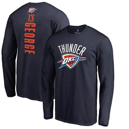 Paul George Oklahoma City Thunder Fanatics Branded Backer Name & Number Long Sleeve T-Shirt - Navy (Adult Stores Oklahoma City)