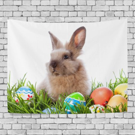 Eastern Tapestry Wall - MYPOP Easter Eggs Rabbit Tapestry Wall Decor Living Room Dorm Tapestries 60 x 40 inches