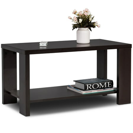 Topbuy Rectangular Wood Cocktail Table Coffee Tea End Table Teapoy for Living Room ()