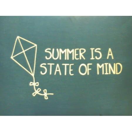 Sunbrella Summer is a state of mind Pillow green (Green Sunbrella)