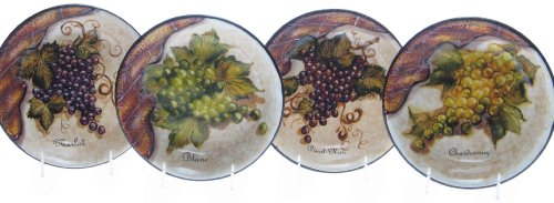 4 PC of Certified International Vino Soup Pasta Bowl Assorted
