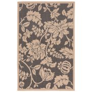 Liora Manne Terrace 1779/77 Floral Charcoal Area Rug 7 Feet 10 Inches X 9 Feet 10 Inches