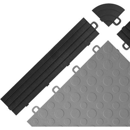 BlockTile Interlocking Ramp Edges without Loops, 12 Edges and 2 Corners (Ranger Ramps)