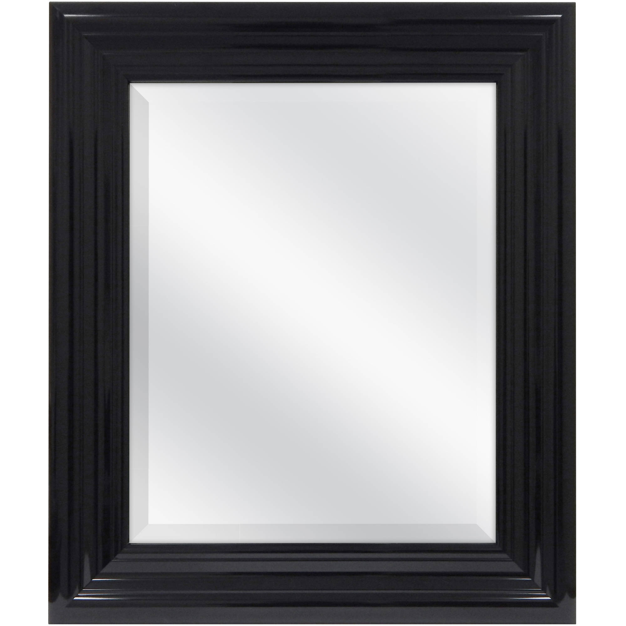 "Better Homes and Gardens 23""x27"" Black Beveled Wall Mirror"