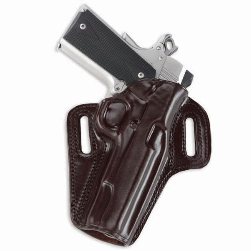 Galco Concealable Belt Holster for 1911 5-Inch Colt, Kimber, Para, Springfield - Havana, Right Hand