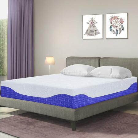 Granrest 10 Inch Gel Memory Foam Mattress Cobalt Blue Full