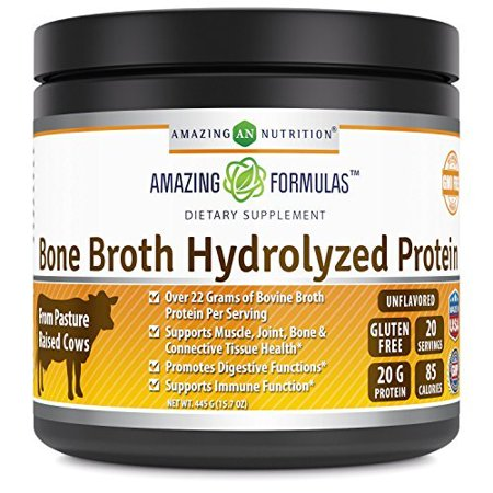 Amazing Formulas Bone broth hydrolyzed Protein Unflavored 15.7 Oz 445