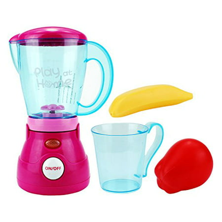 Play At Home Kitchen Blender Pretend Play Battery Operated Toy Home Appliances Playset Play At Home Kitchen Blender Pretend Play Battery Operated Toy Home Appliances PlaysetBlender spins and lights up when turned on, Includes cup and toy fruitsPerfect pretend play set, Great add on to play houses