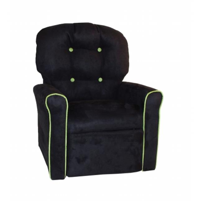 Dozydotes 18002 Kids Accent Rocker Recliner, Black & Kiwi