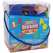 Darice Foam Stickers Letters and Numbers Theme Assorted Shapes and Colors
