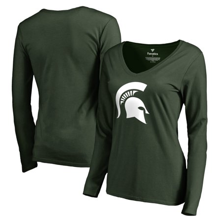Michigan State Spartans Fanatics Branded Women's Primary Logo Long Sleeve T-Shirt - Green
