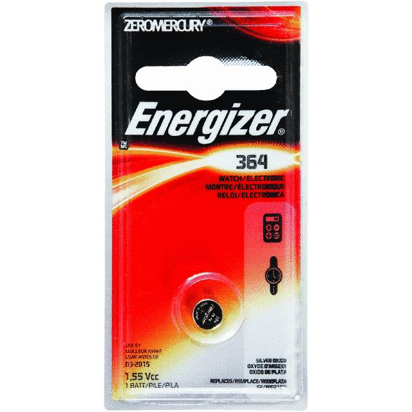 Energizer Watch Battery, Size 364