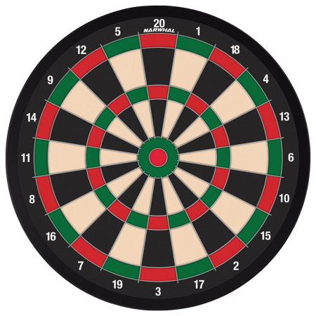 6 Magnetic Darts - Narwhal 15.5inch Dartboard