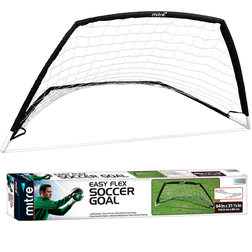Mitre Easy Flex Soccer Goal Pop Up Practice Kick Ball Net Foldable Portable Game