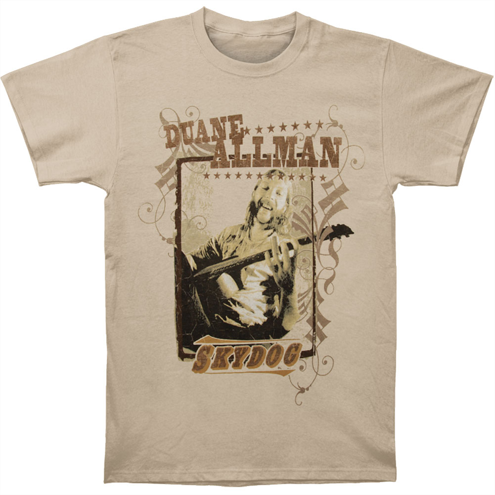 Allman Brothers Men's  Sky Dog T-shirt Natural