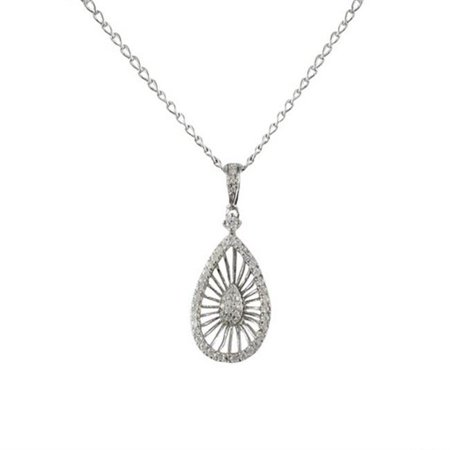 Dlux jewels sterling silver teardrop pendant with white cubic dlux jewels sterling silver teardrop pendant with white cubic zirconia aloadofball Image collections