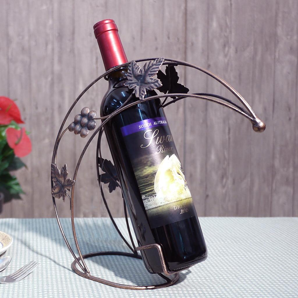 Finether Crescent 1 Bottle Tabletop Wine Bottle Holder Decorative