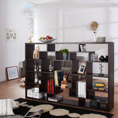 Ebern Designs Lancashire Geometric Bookcase
