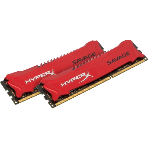 Kingston HX318C9SRK2/16 Kingston HyperX Savage Memory Red - 16GB Kit (2x8GB) - DDR3 1866MHz Intel XMP - 16 GB (2 x 8 GB) - DDR3 SDRAM - 1866 MHz DDR3-1866/PC3-14900 - 1.50 V -