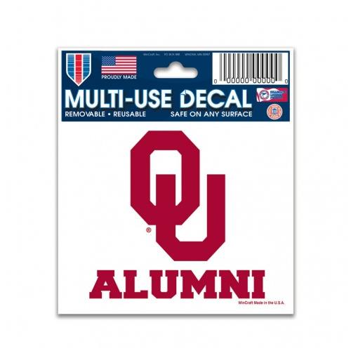 Oklahoma Sooners Decal 3x4 Alumni