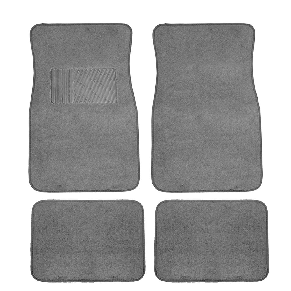 FH GROUP Carpet Floor Mats with Heel Pad, Gray