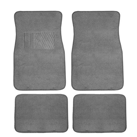FH GROUP Carpet Floor Mats with Heel Pad, (Gray Carpet Floor Mats)
