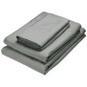 Home Source International 50500QNK55 Bamboo Queen Flat Sheet - Black Pearl