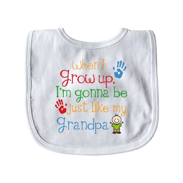Just Like Grandpa Gift Baby Bib