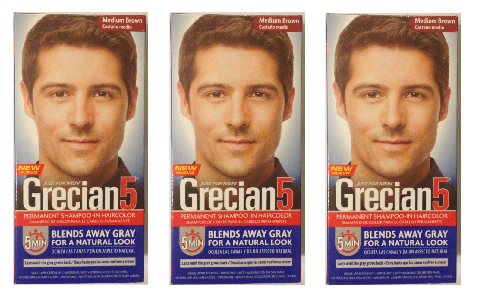 Just For Men Grecian 5 Permanent Shampoo In Haircolor Medium Brown