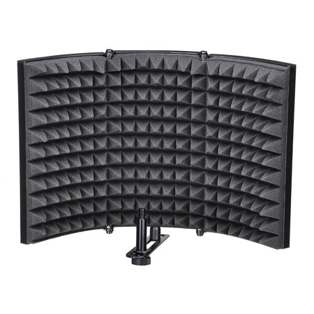Acoustic Mix - Yescom Studio Microphone Isolation Shield Acoustic Foam Panel Soundproof Filter Recording Panel Stand Mount