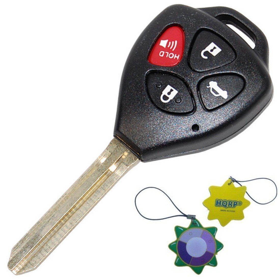 HQRP Ignition Key Keyless Entry Remote Head Transmitter w  4 Buttons for Avalon 07-10   Toyota Camry 07-11  ... by HQRP