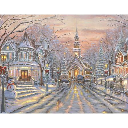 Christmas 500 Piece Puzzle (White Christmas 500 Piece Jigsaw Puzzle )