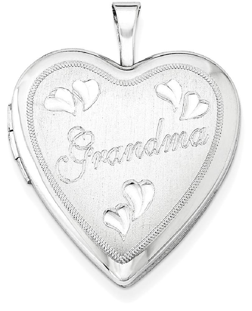 IceCarats 925 Sterling Silver 20mm Grandma Heart Photo Pendant Charm Locket Chain Necklace That Holds Pictures Fine... by IceCarats