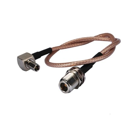 6 inch Rf Connector N Female nut O-ring Straight to Ts9 Male Right Angle Assembly Extension Coaxial Cable RG316 15cm for Wireless Antenna
