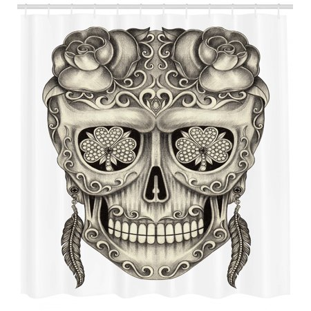 Day Of The Dead Decor Shower Curtain