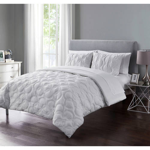 VCNY Home Atoll Circular Embossed 5/7-Piece Bed in a Bag Comforter Set with Sheet Set, Multiple Colors and Sizes