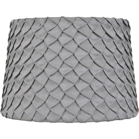 Better Homes and Gardens Gray Pleated Round Hardback (Spa Blue Lamp Shade)