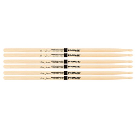 3 PACK ProMark Elvin Jones Jazz Wood Tip Hickory Drumsticks TXJZW-3