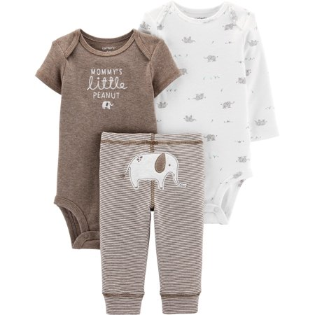 Carters Baby Boys 3-pc. Mommy's Little Peanut Layette Set 16W Short