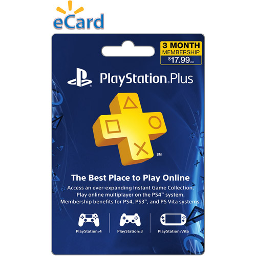 Sony Playstation Plus 3 Month $17.99 (Email Delivery) by INTERACTIVE COMMUNICATIONS