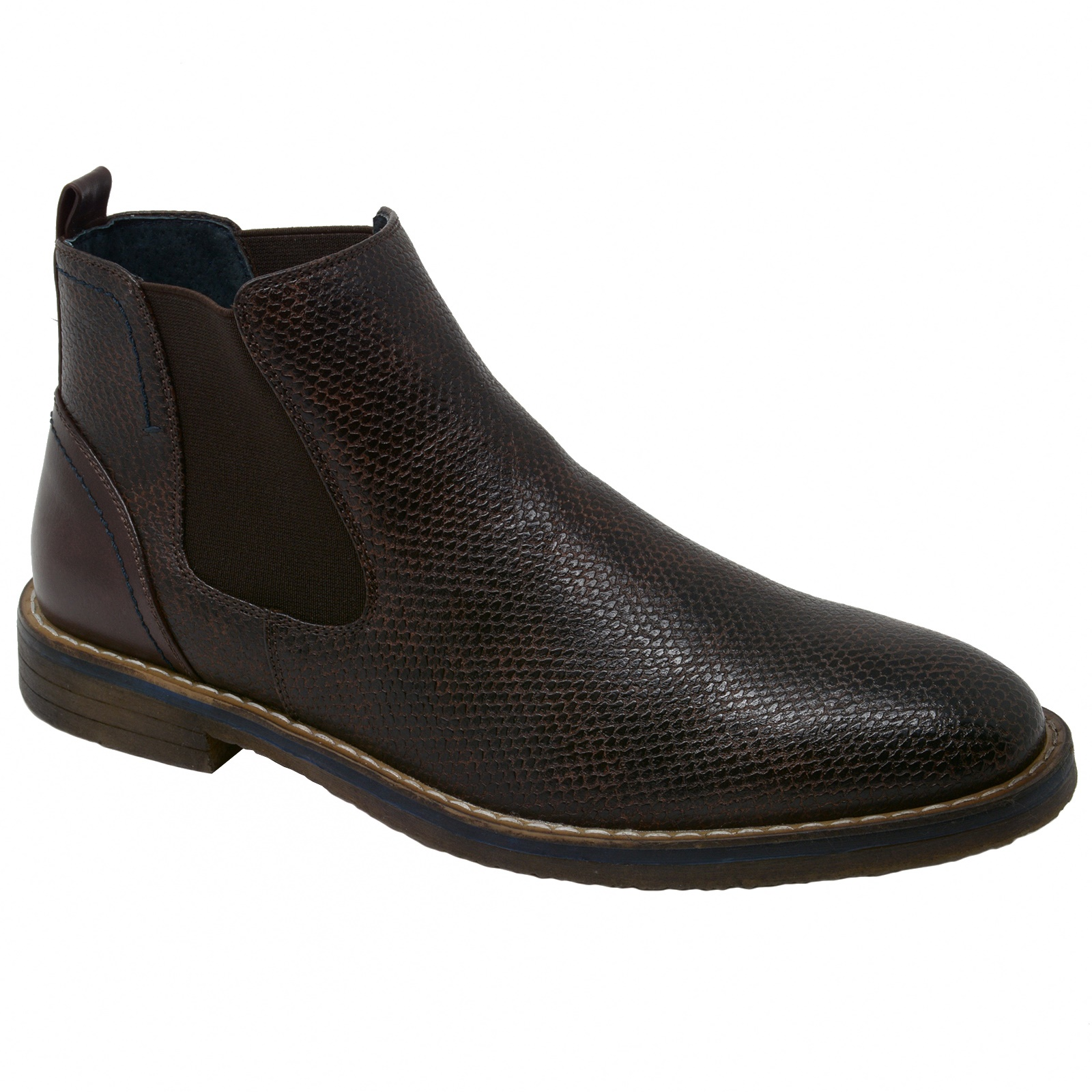 Alpine Swiss Mens Nash Chelsea Boots Snakeskin Ankle Boot Genuine Leather Lined by