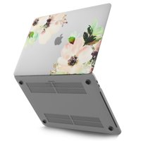 Kuzy - Rubberized Plastic Case for MacBook Pro 13 inch (A1706 & A1708) with/without Touch Bar & Touch ID (NEWEST Release 2017 & 2016) Frosted-Clear - Flowers