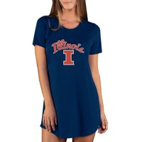 Illinois Fighting Illini Concepts Sport Women's Marathon Nightshirt - Navy
