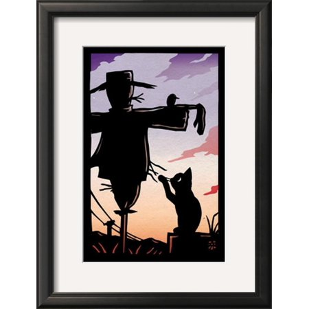 Scarecrow Framed Art Print Wall Art  By Ryo Takagi - 15.5x20