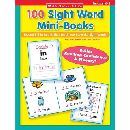 Teaching Resources: 100 Sight Word Mini-Books : Instant Fill-In Mini-Books That Teach 100 Essential Sight Words (Paperback)