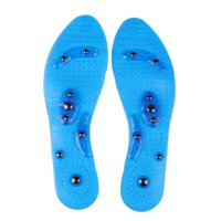 Insole Acupressure Magnetic Massaging Insoles - Massage Reflexology Plantar Fasciitis Pain Relief Silicone Insoles with Arch Support for Men and Women Suitale For 36-43 Yards