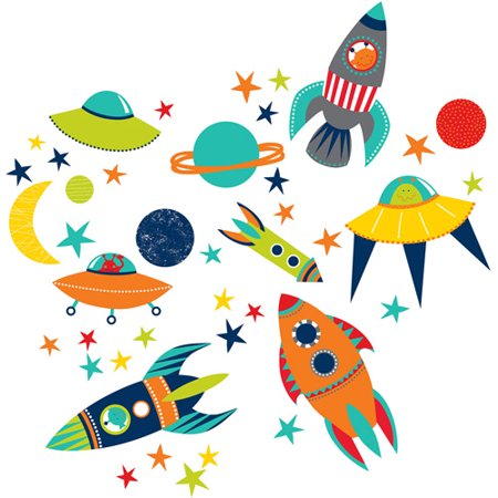 WallPops Blast Off Wall Art Kit