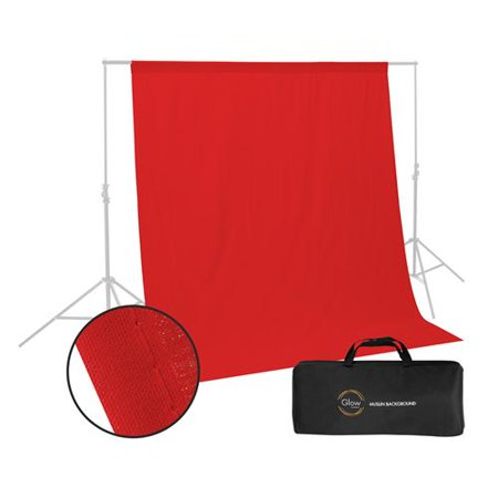 - Glow Muslin Background - 10 x 10 ' (Red)